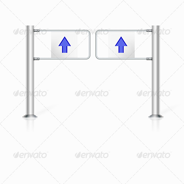 GraphicRiver Illustration of Turnstile 8348626