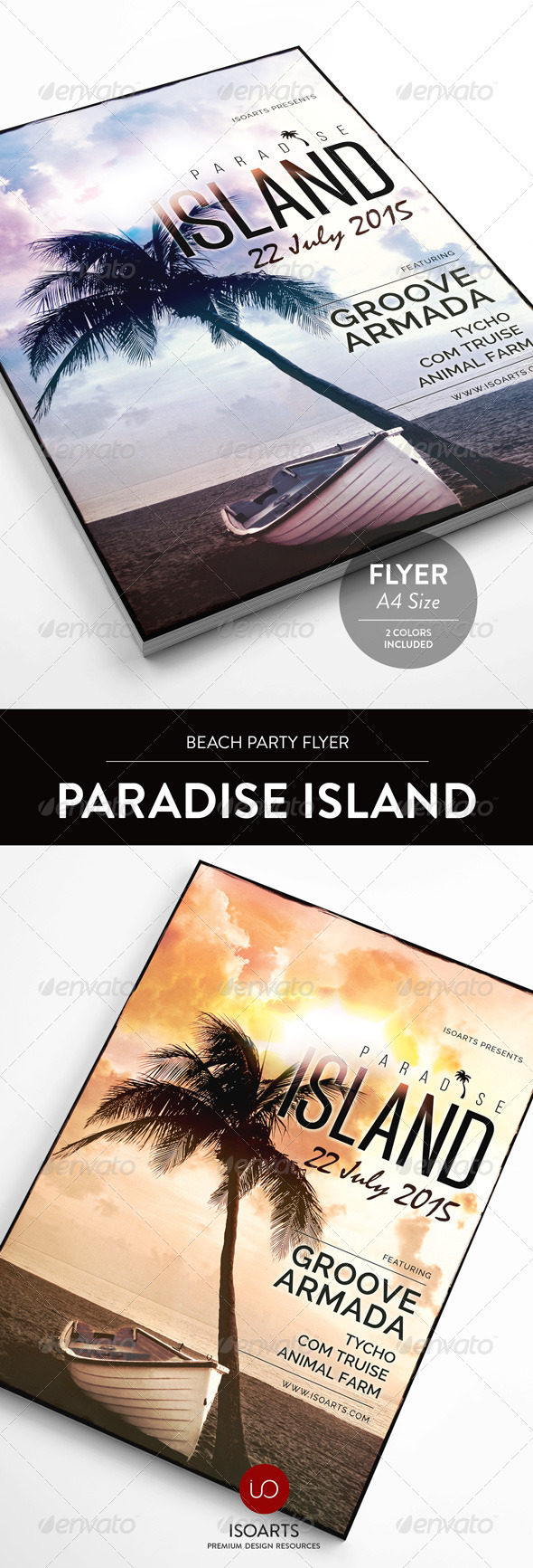 GraphicRiver Paradise Island Summer Party Flyer 8348774