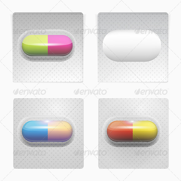 GraphicRiver Illustration of Colored Pills 8348782