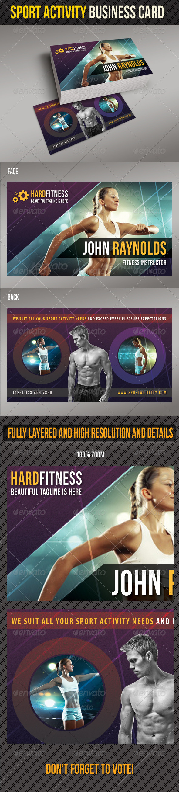 GraphicRiver Sport Activity Business Card 03 8348796