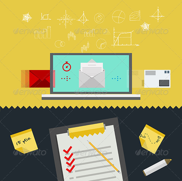 GraphicRiver Flat Illustration of Management 8349076