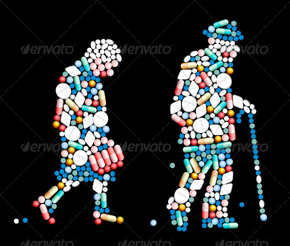 GraphicRiver Tablets Pills Old People 8349106