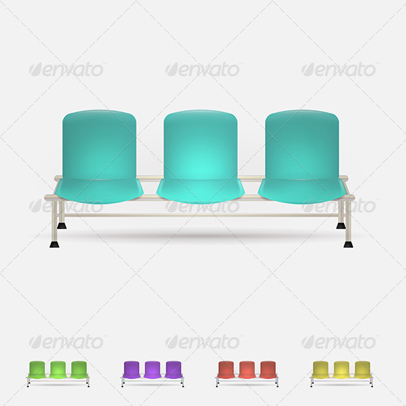 GraphicRiver Illustration of Colored Waiting Benches 8349196