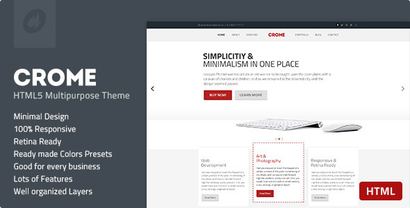 Crome - Responsive Multipurpose Template - Creative Site Templates