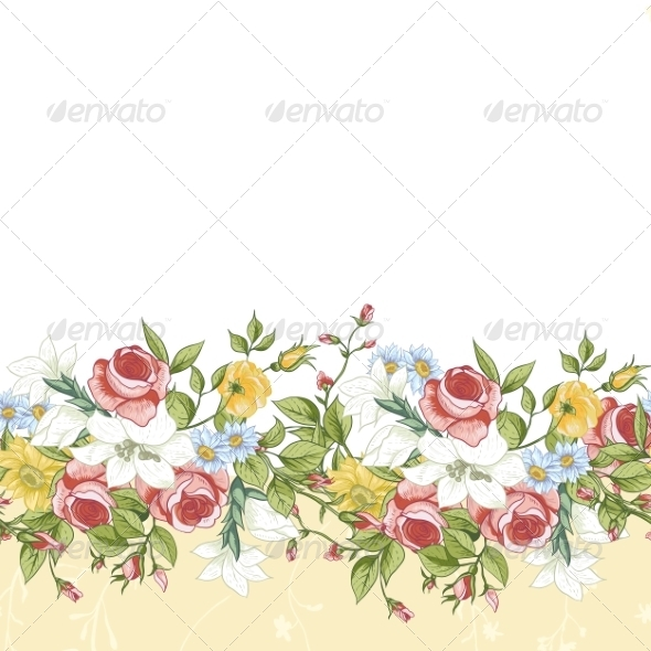 GraphicRiver Seamless Floral Border 8349247