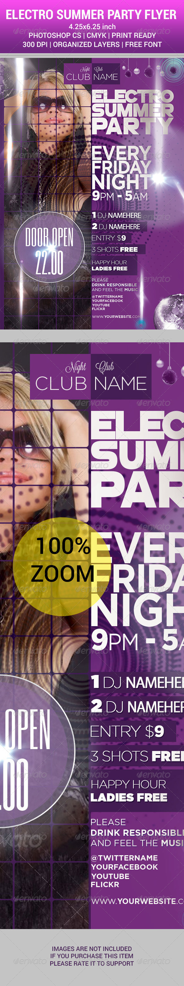 GraphicRiver ELECTRO SUMMER PARTY 2014 Flyer 8349263