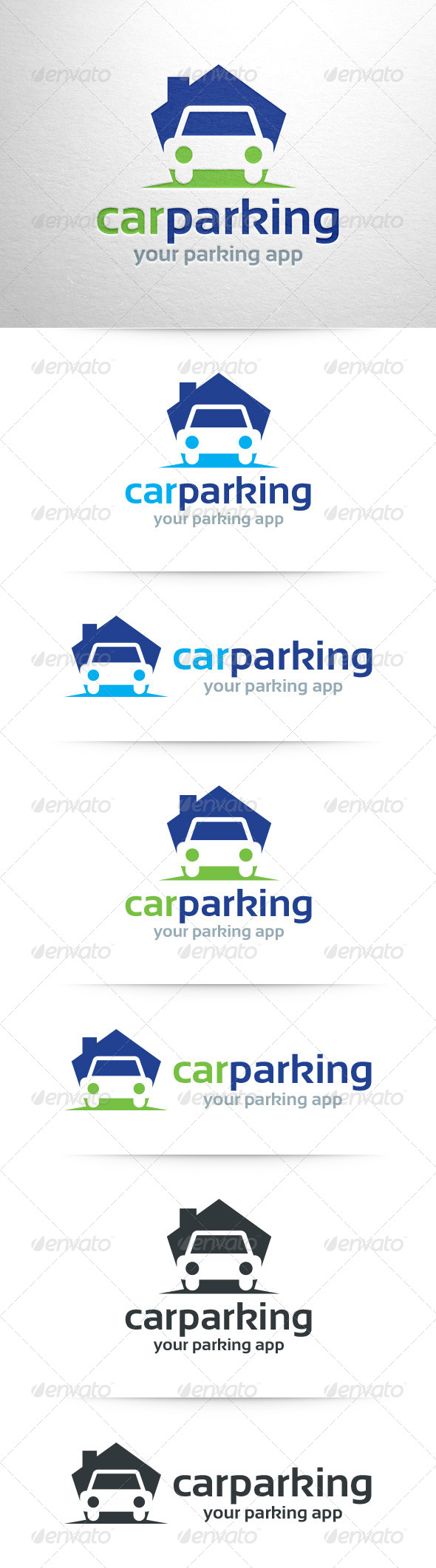 Car Parking Logo Template