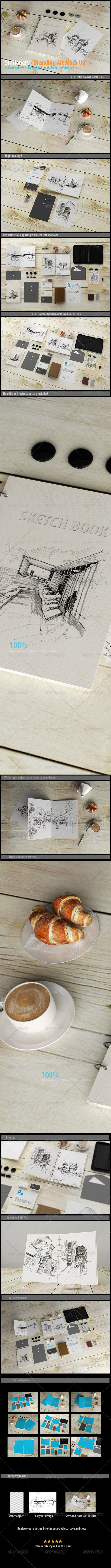 GraphicRiver Stationery Branding Art Mock-Up 8349290