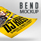 Bend Flyer Poster Mockups - GraphicRiver Item for Sale