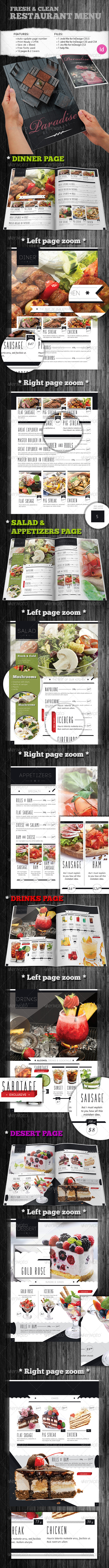 GraphicRiver Fresh & Clean Restaurant Menu 8349763