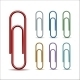 Set of Colored Paper Clips - GraphicRiver Item for Sale