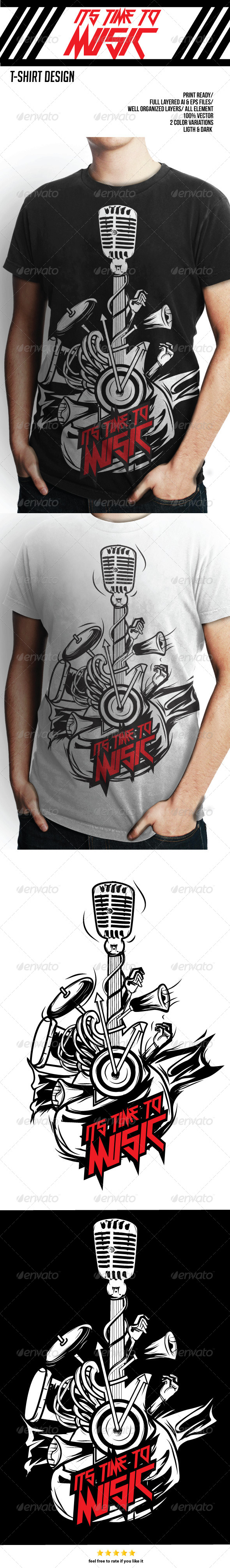 GraphicRiver T-Shirt Design Music 8333144
