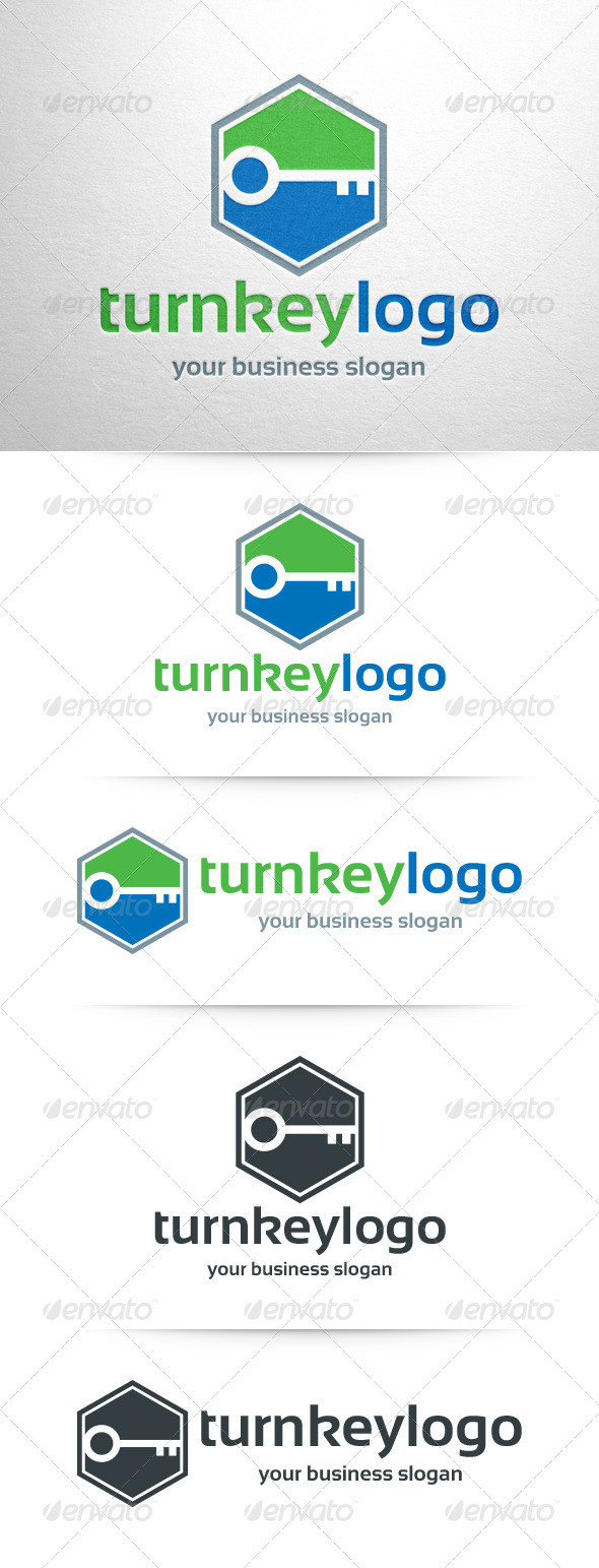 Turn Key Logo Template
