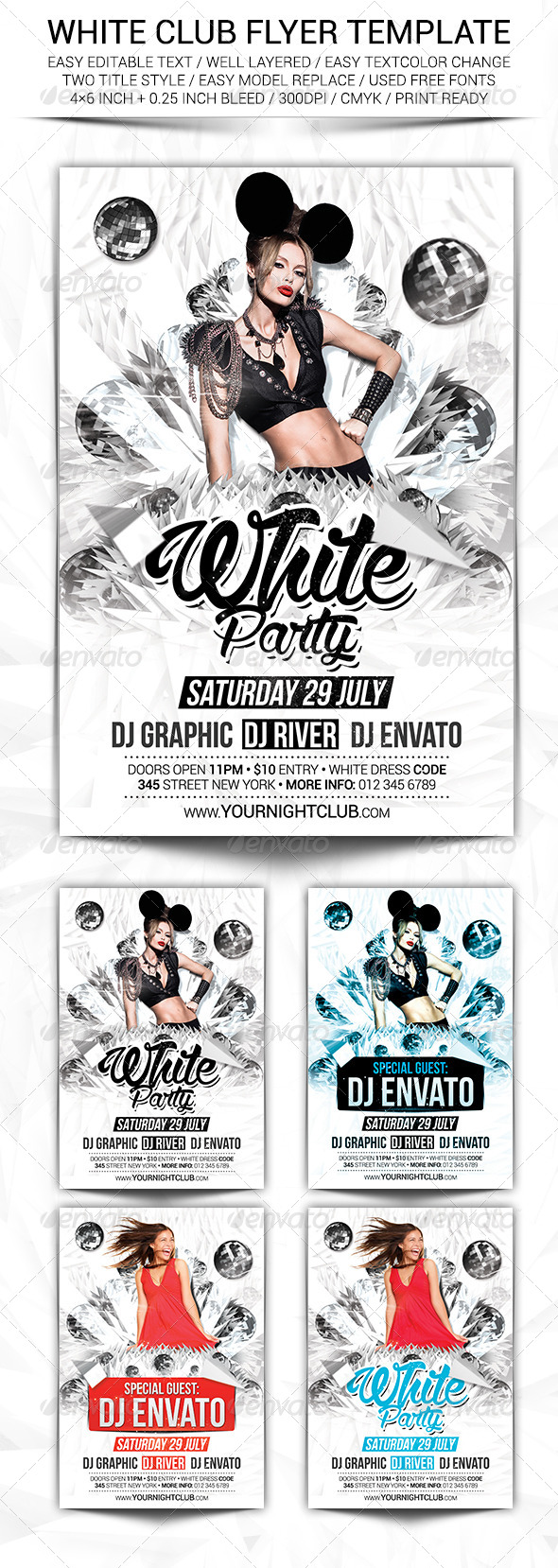 GraphicRiver White Club Flyer Template 8350299