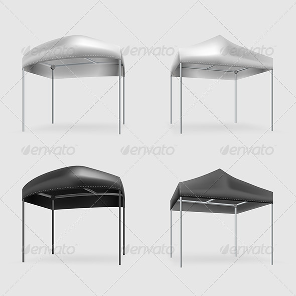 GraphicRiver Illustration of Tents 8350352