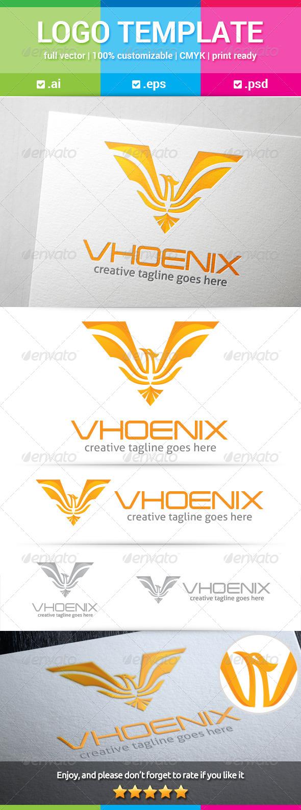 GraphicRiver Phoenix Letter V Logo 8350370