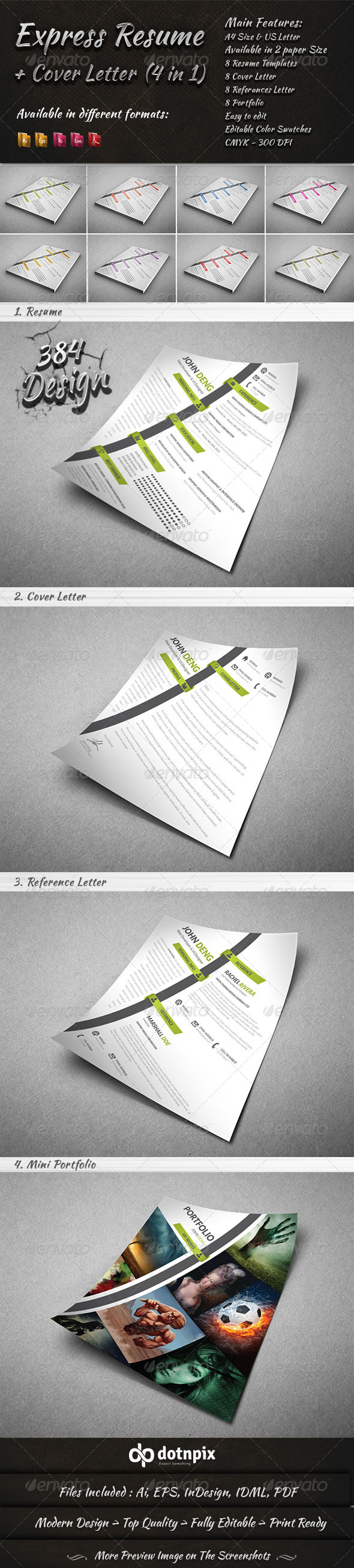 express resume cover letter 4 in 1 resumes stationery