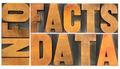 information, data, facts in wood type - PhotoDune Item for Sale