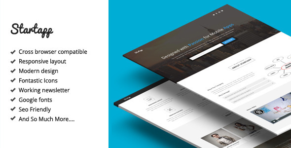 ThemeForest Startapp Responsive Landing Page Template 8350443