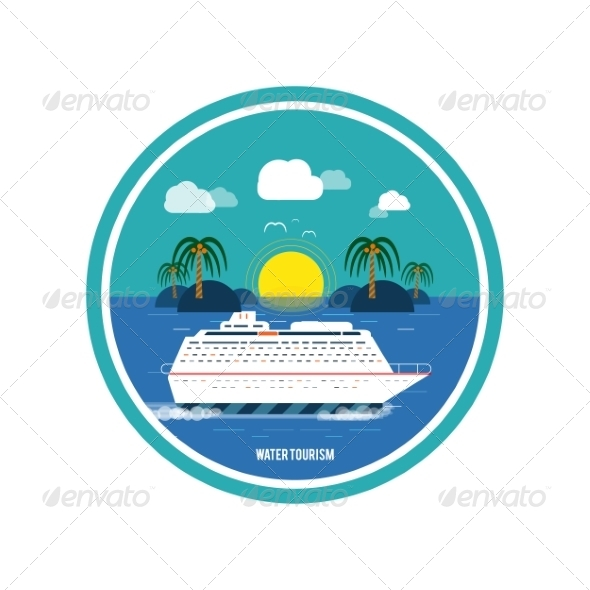 GraphicRiver Cruise Ship Water Tourism 8350566