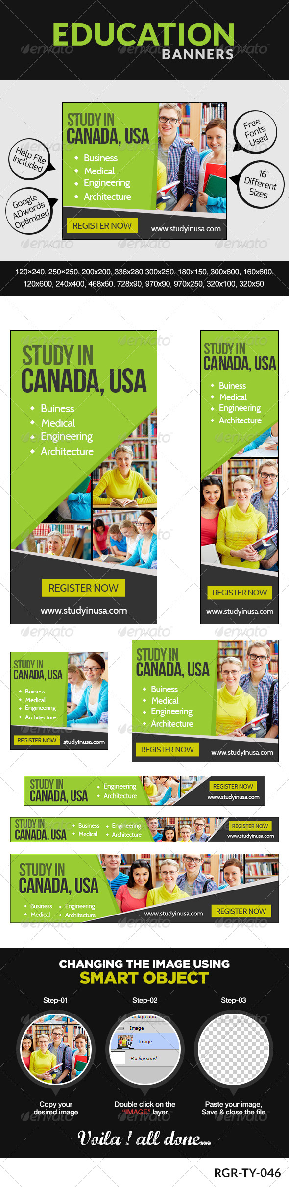 GraphicRiver Exchange education Banners 8350619