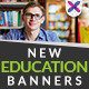 Exchange education Banners - GraphicRiver Item for Sale