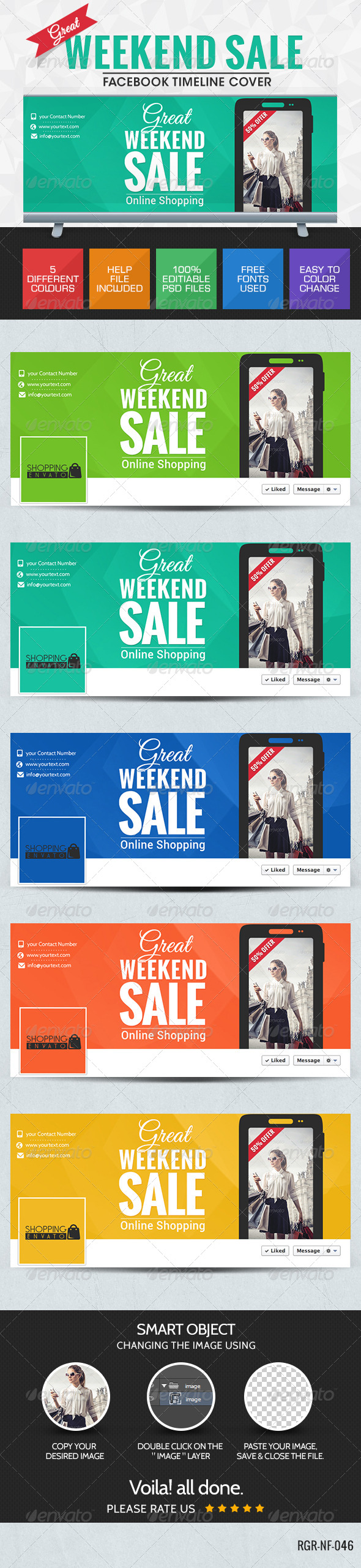 GraphicRiver Weekend Sale Facebook Cover Page 8350623