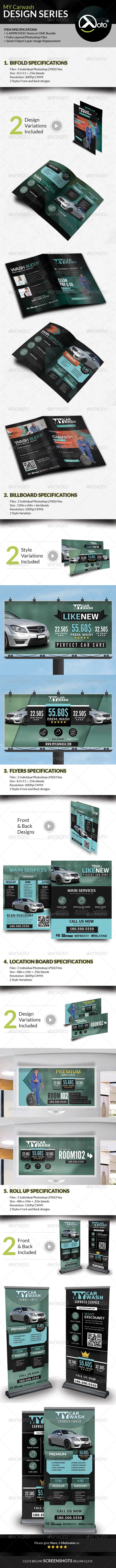 GraphicRiver MY Automobile Carwash Service Design Series 8350713