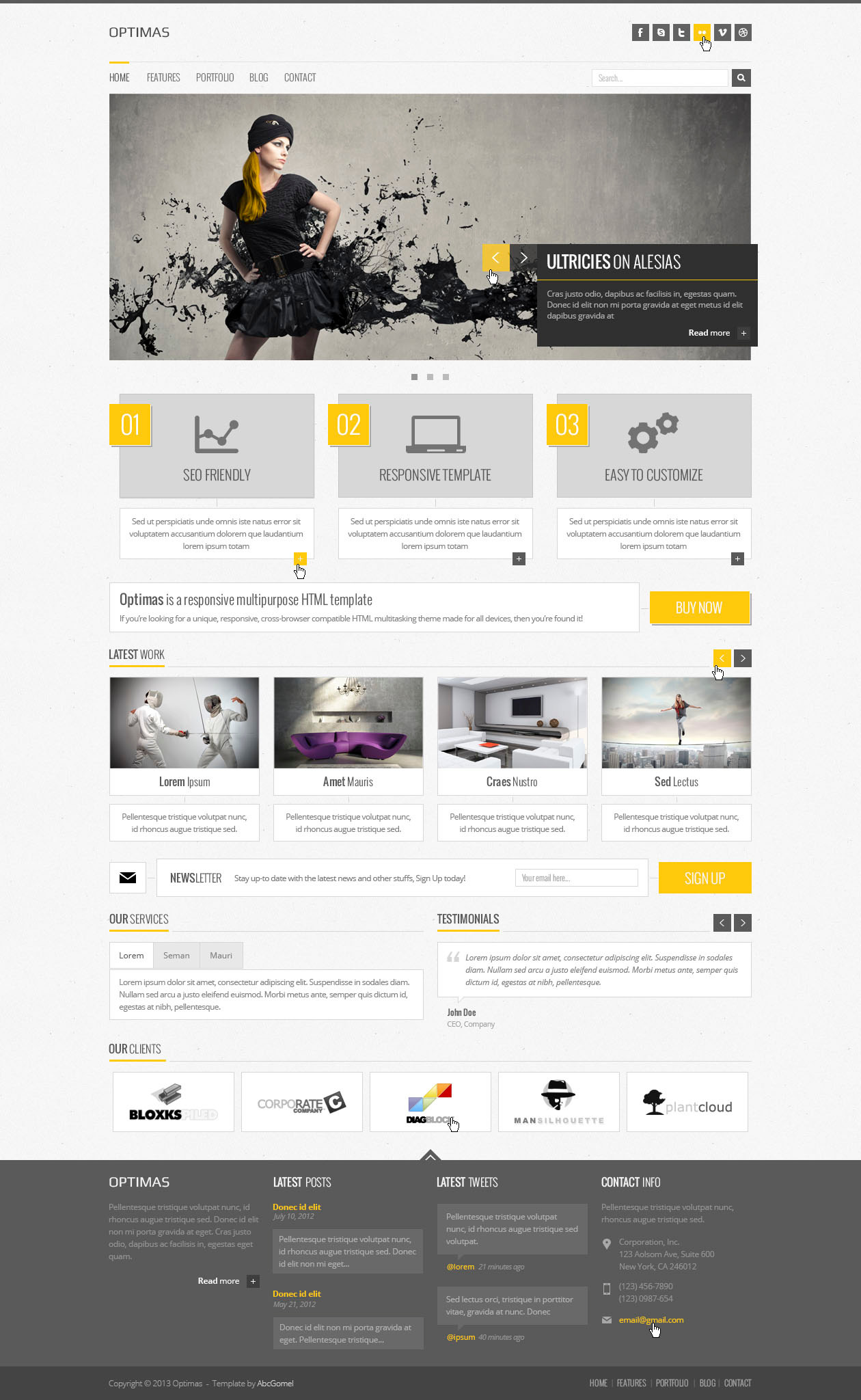 Optimas  - Responsive Multipurpose Template