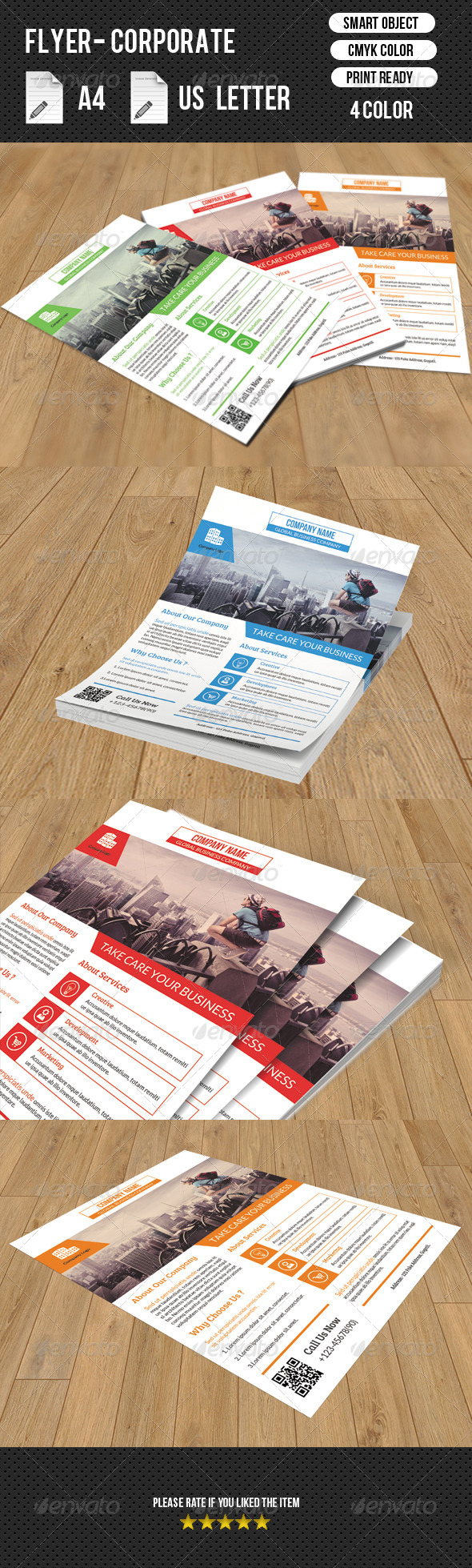 GraphicRiver Corporate Flyer Template 8350784