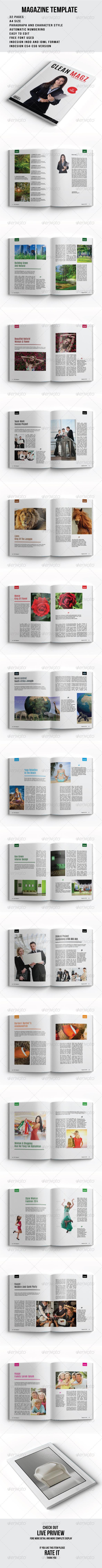GraphicRiver Clean Magazine 8350817