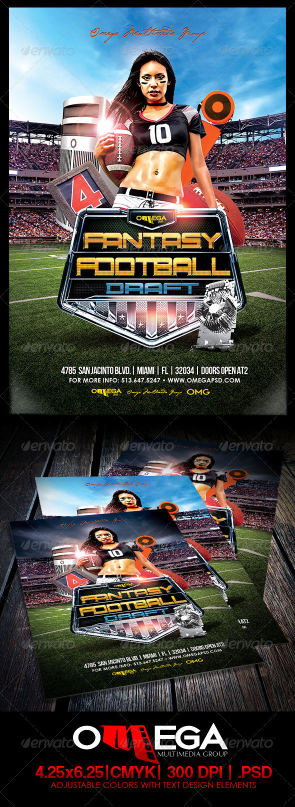 GraphicRiver Fantasy Football Draft 8339123