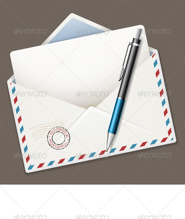 GraphicRiver Pen and Envelope 8351082