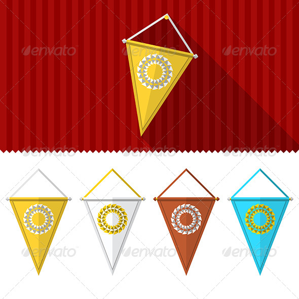 GraphicRiver Flat Illustration of Triangular Pennants 8351092