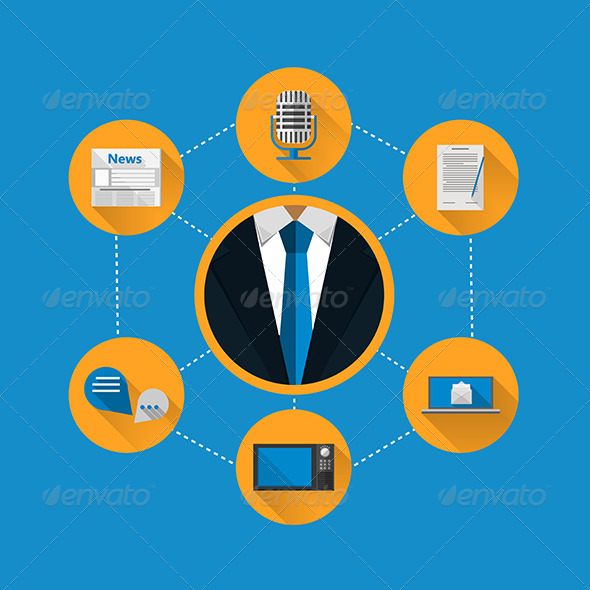 GraphicRiver Flat Illustration for News 8351180