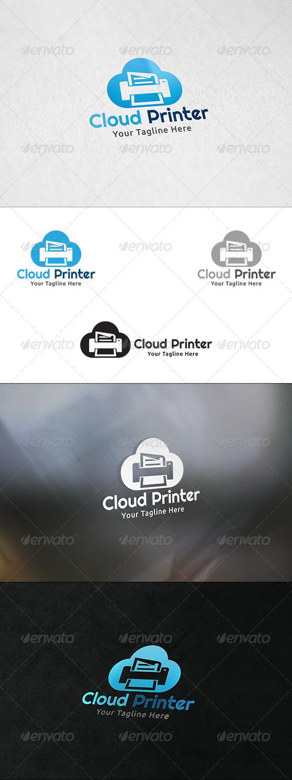 GraphicRiver Cloud Printer Logo Template 8351229