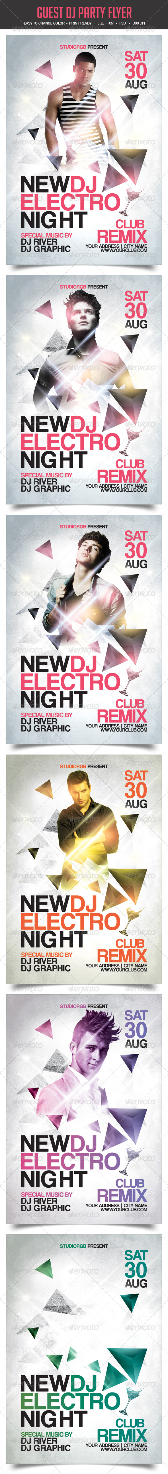 GraphicRiver Guest Dj Party Flyer 8340317