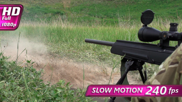 VideoHive Shot with a Sniper Rifle 8351335