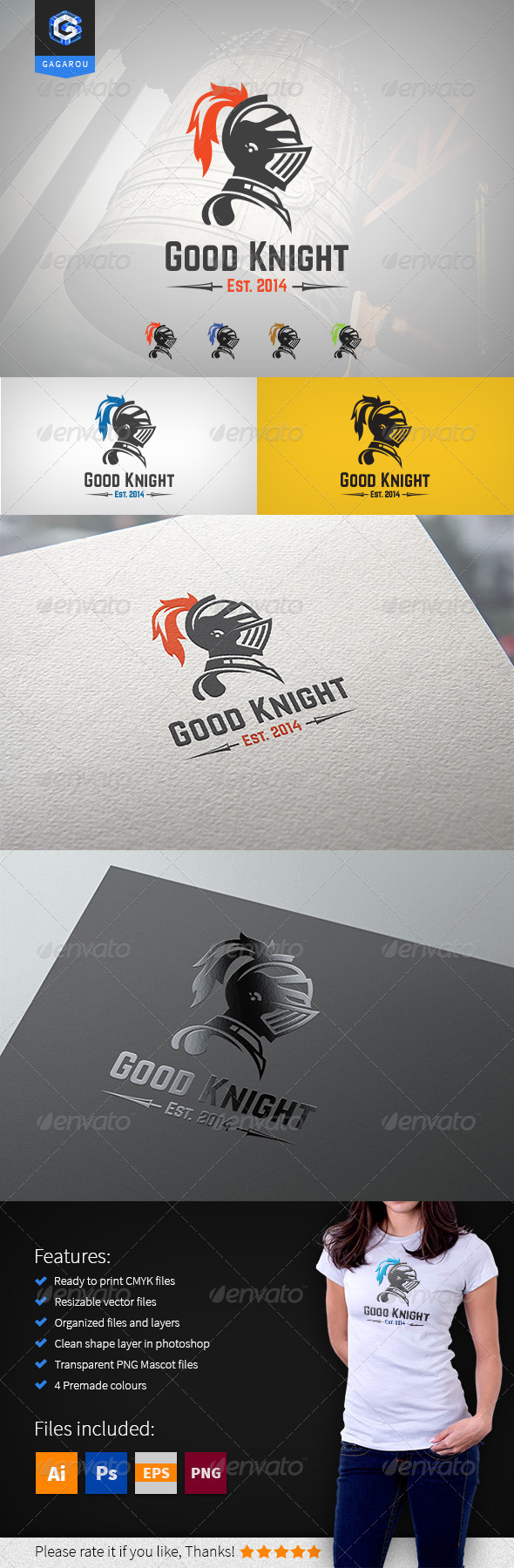 GraphicRiver Good Knight logo 8351359