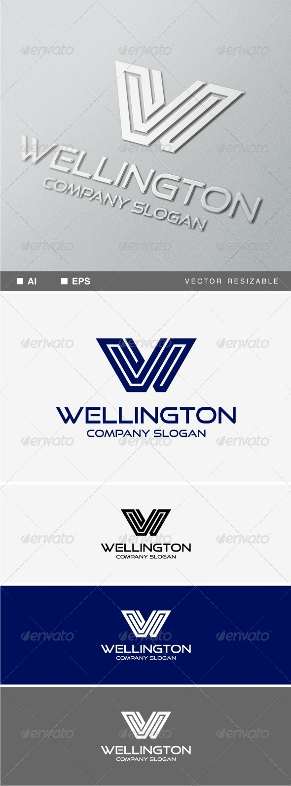 GraphicRiver W Letter Logo Template 8351381