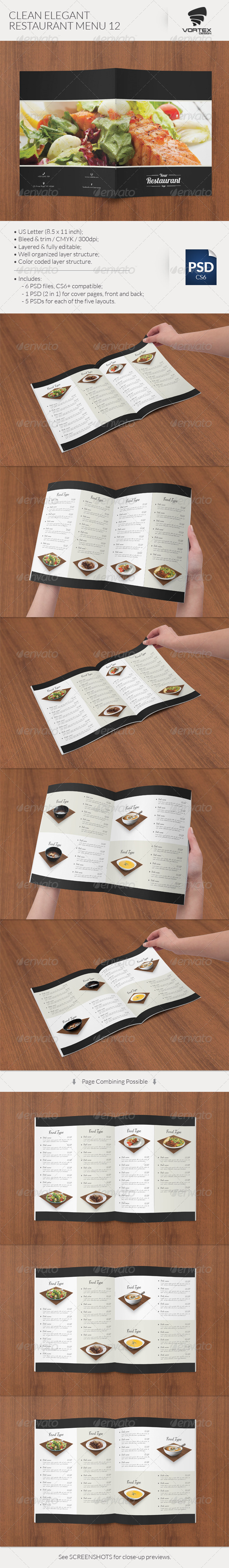 GraphicRiver Clean Elegant Restaurant Menu 12 8351495