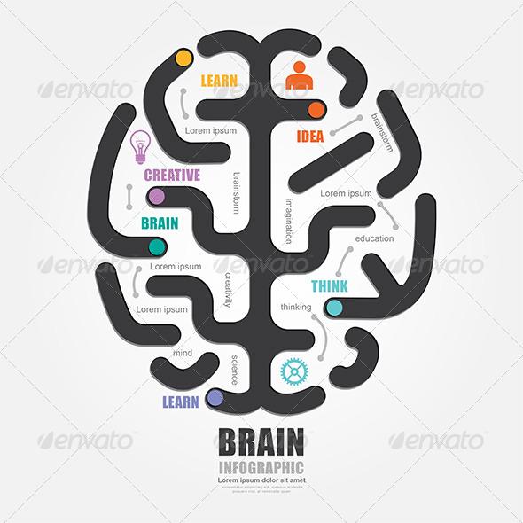 GraphicRiver Infographics Vector Brain Design Diagram Line Styl 7904888