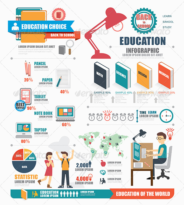 GraphicRiver Infographic Education Template Design 8313165