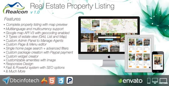CodeCanyon Realcon Real Estate Property Listing 8352001