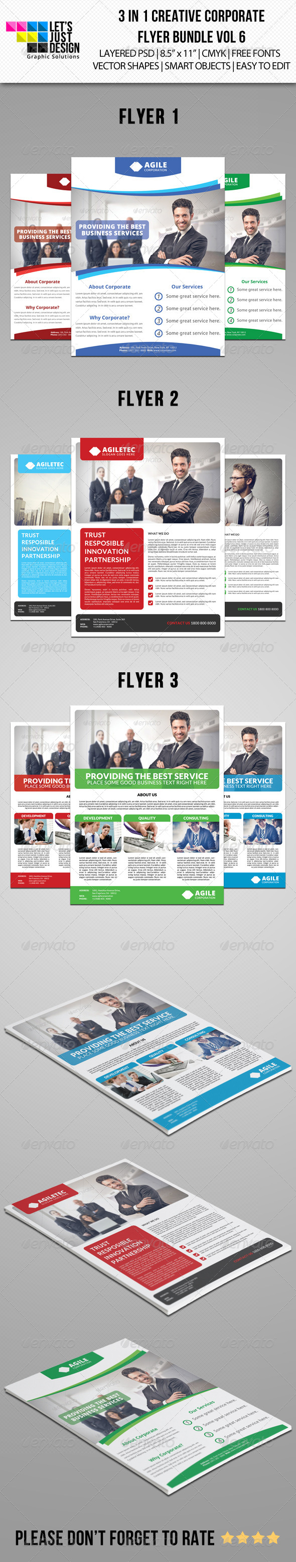 GraphicRiver Creative Corporate Flyer Pack Vol 6 8352071