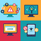 Flat Icons Internet Security - GraphicRiver Item for Sale