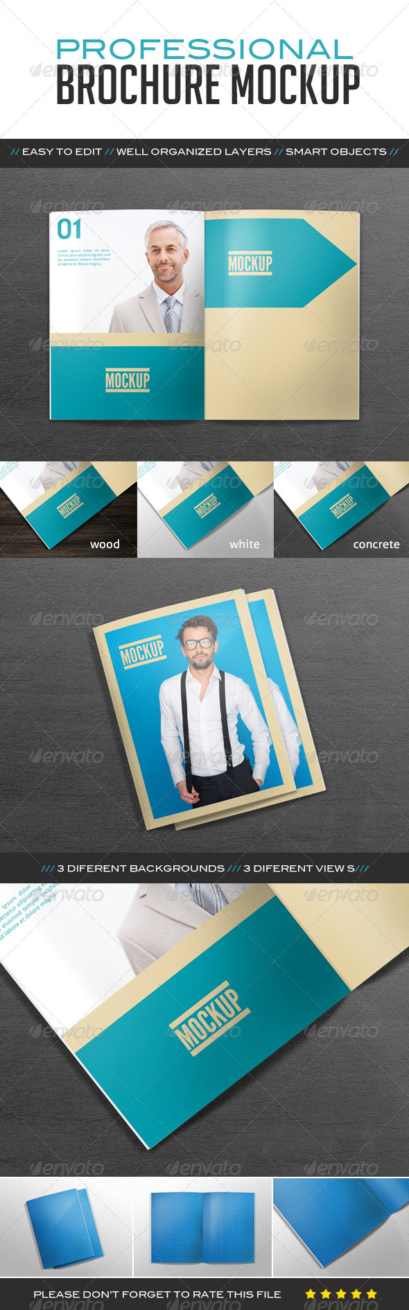 GraphicRiver Professional Brochure Mockup 8352111