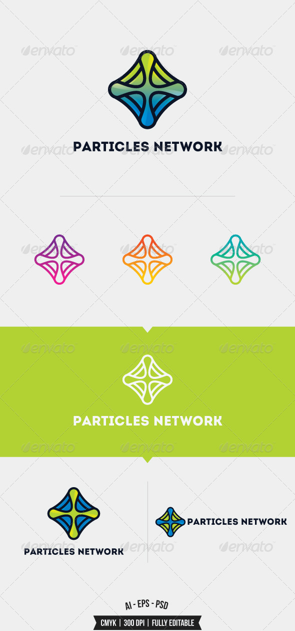 GraphicRiver Particles Network Logo Template 8352213