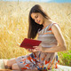 Beautiful young girl reading book - PhotoDune Item for Sale