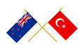 Flags of Turkey and New Zealand, 3d Render, Isolated on White - PhotoDune Item for Sale